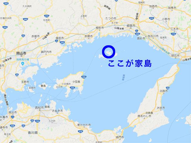 家島の地図