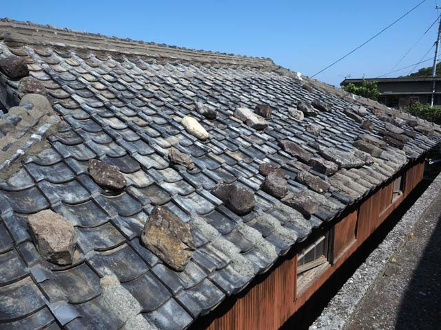 祝島の屋根